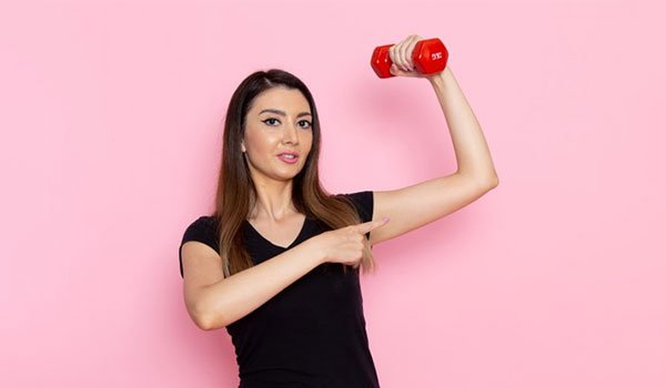 Work out with lighter weights